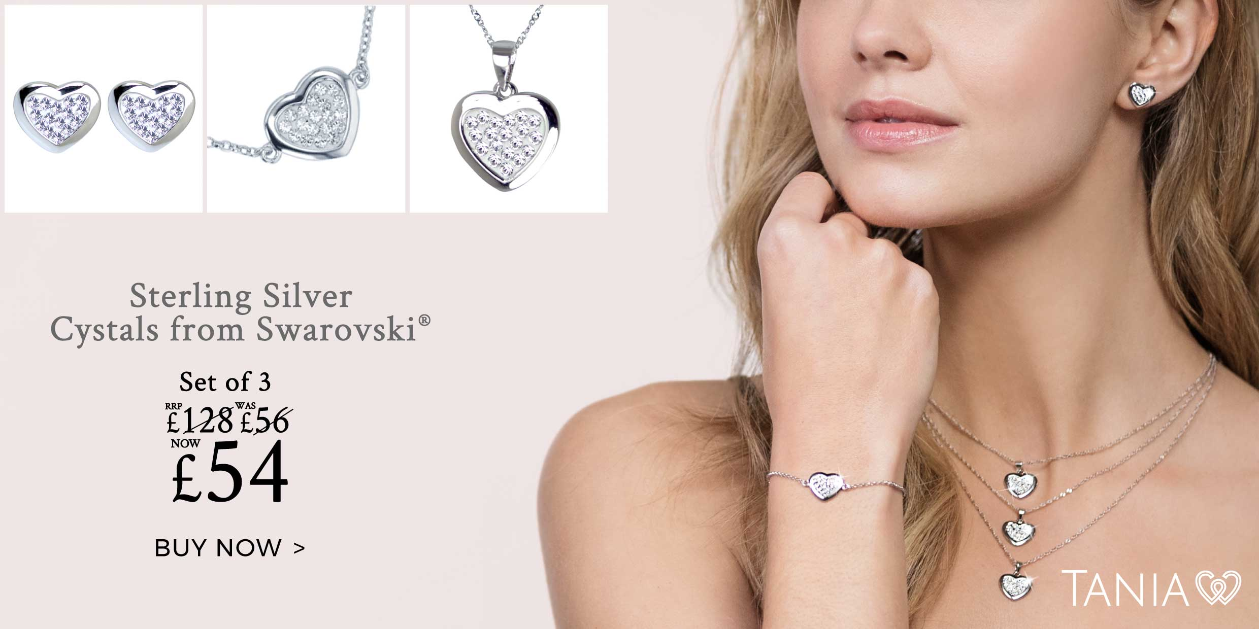 Sterling Silver Tania Collection Made With Swarovski® Crystals