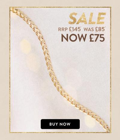 18ct Gold Vermeil on Silver Solid Curb Chain Necklace