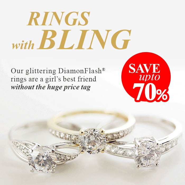 Rings with bling - save up to 70%