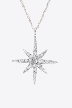 Silver CZ Star Necklace
