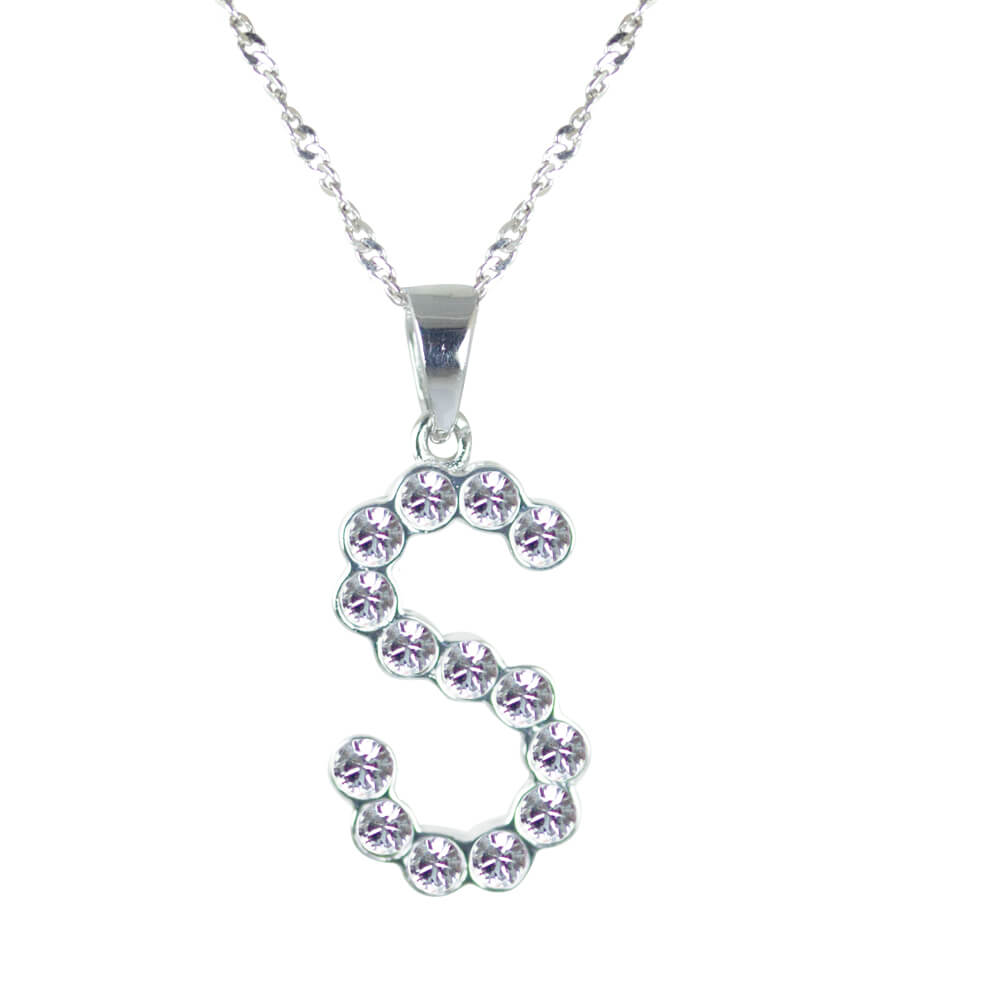 Swarovski Crystal Initial Necklaces