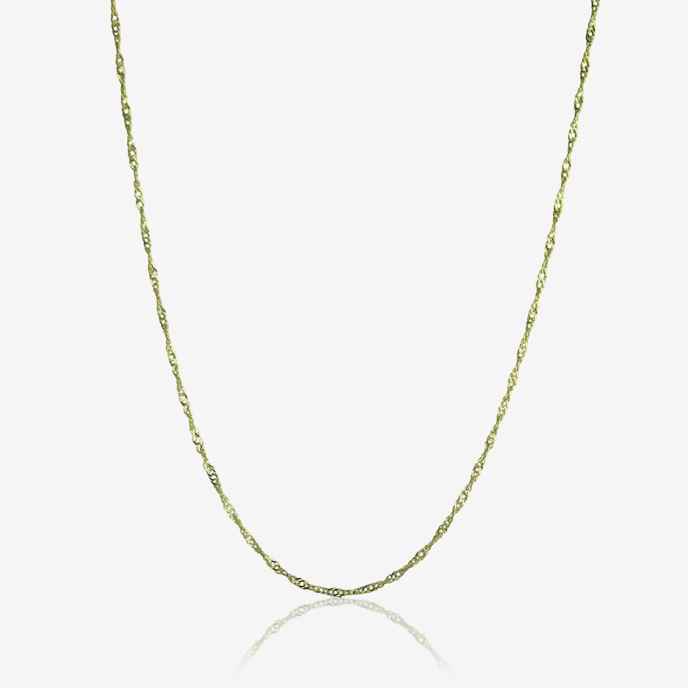 "9ct Gold 18"" Singapore Style Chain Perfect For Pendants"