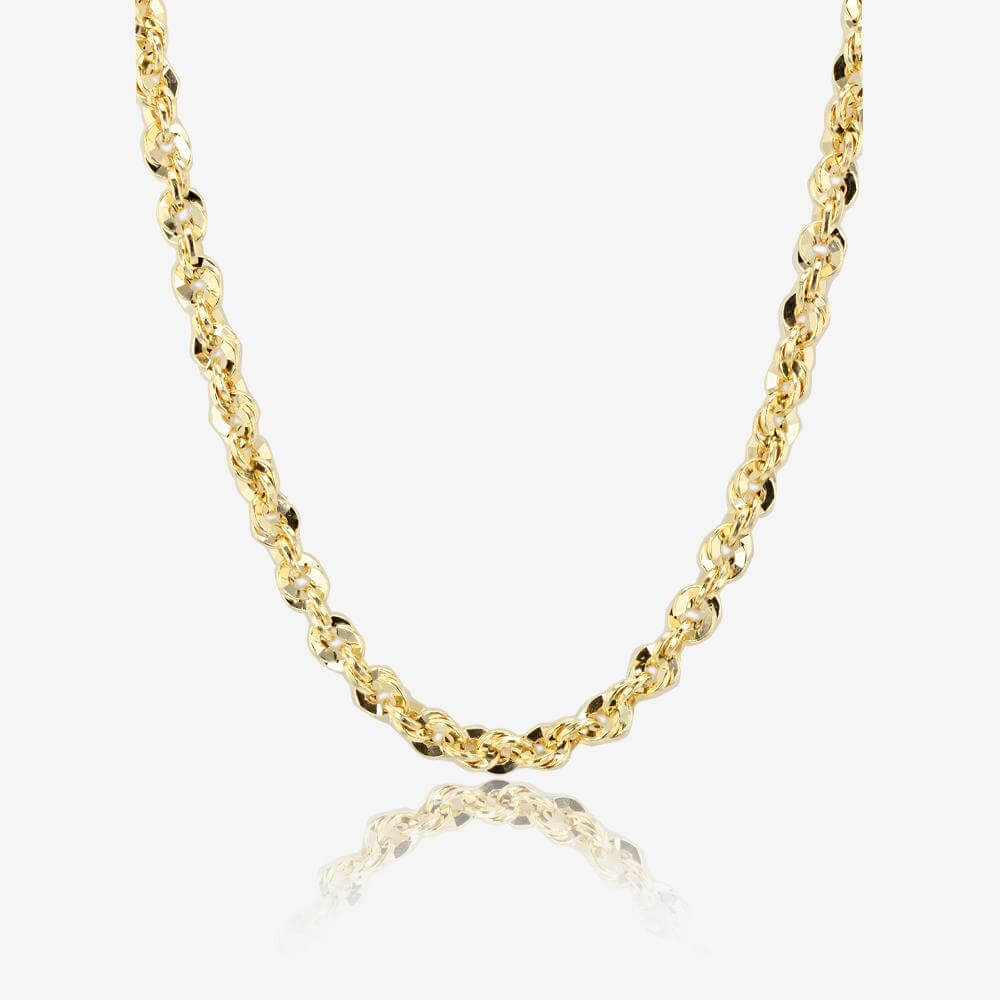 This gold filled chain has a spring ring closure. Chain comes individually carded. 14/20 Gold Filled Rope Chain Necklace (mm) Item #: gfr mm sterling silver diamond cut rope chain necklace with a lobster clasp closure. Made in Italy Sterling Silver. SIGN IN TO SEE PRICES CREATE AN ACCOUNT. Item #: bx