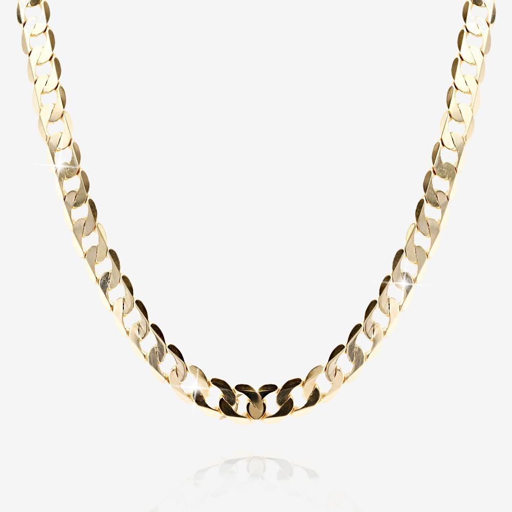 "9ct Gold Solid 20"" Men's Curb Chain"