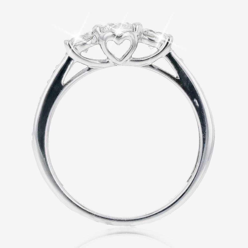Pure Brilliance 18ct White Gold 3 Stone 1.00ct Diamond Trilogy Ring