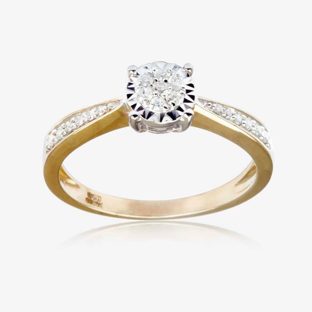 Round Cut 9ct Gold Diamond Ring