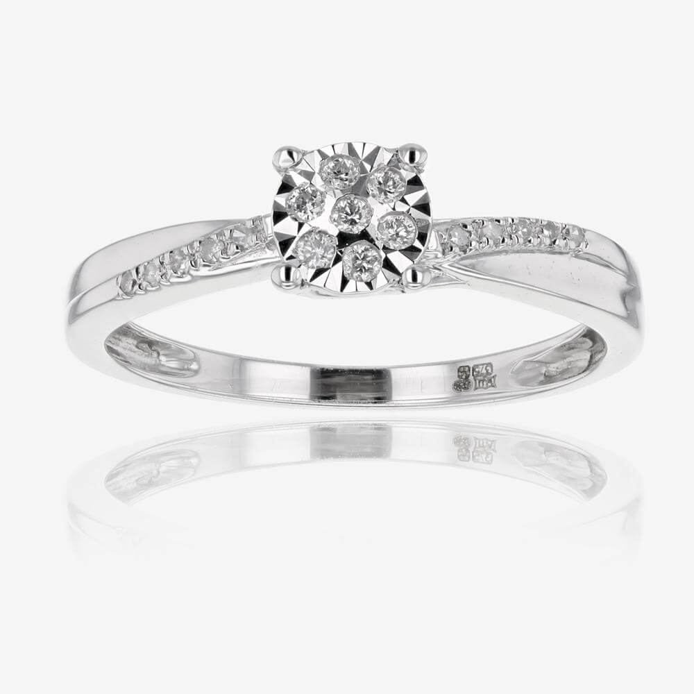 9ct white gold diamond ring for White diamond wedding ring