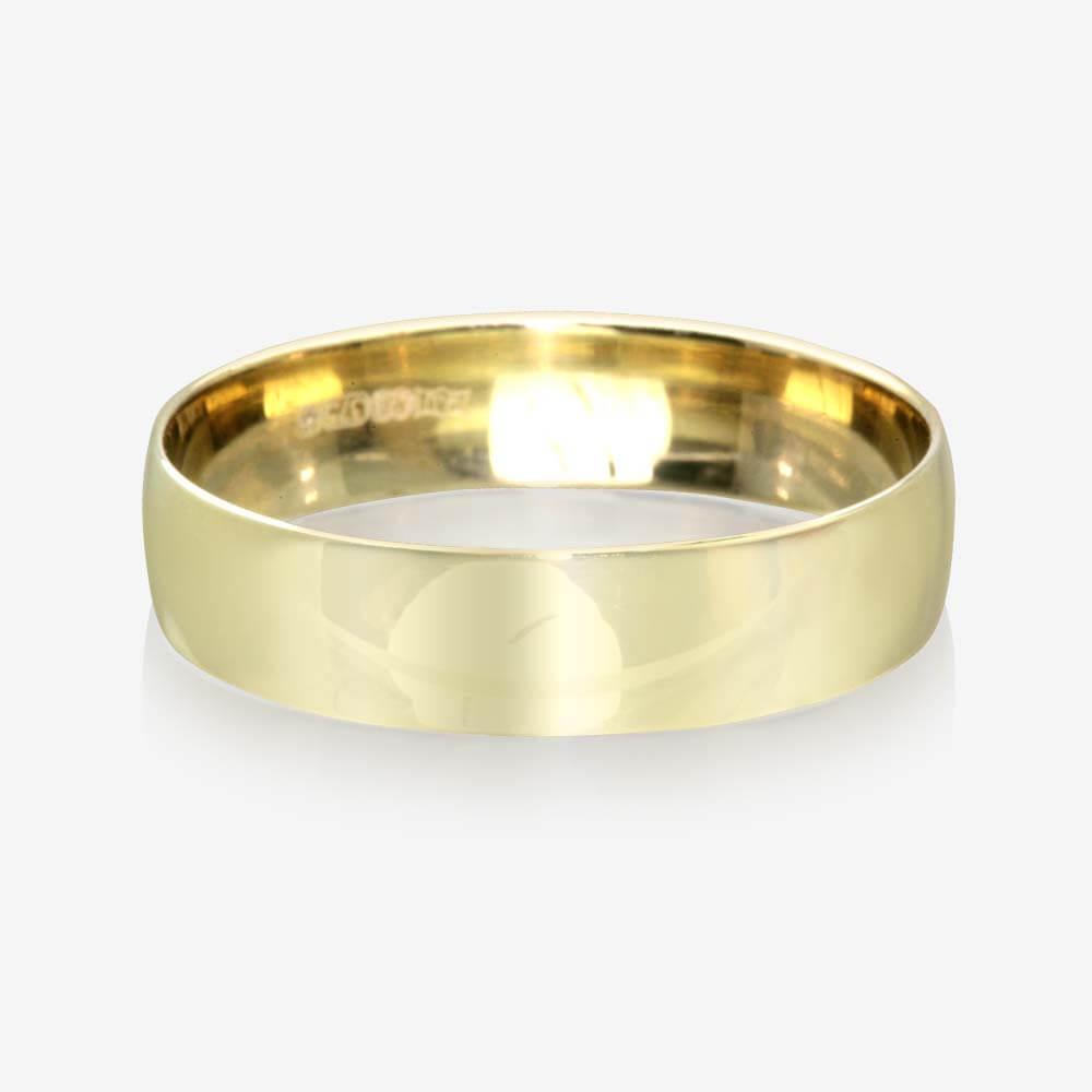 9ct gold s wedding ring 5 5mm