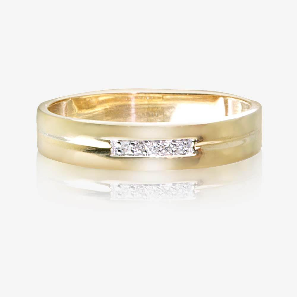 9ct gold diamond ladies wedding ring 4mm for Wedding gold rings for women