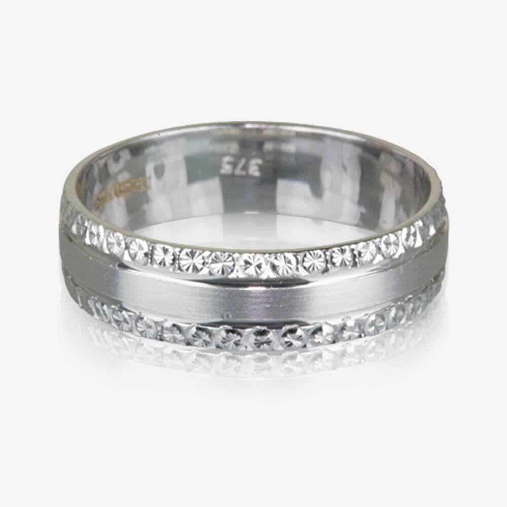 9ct white gold luxury weight ladies wedding ring 5mm - Ladies Wedding Rings