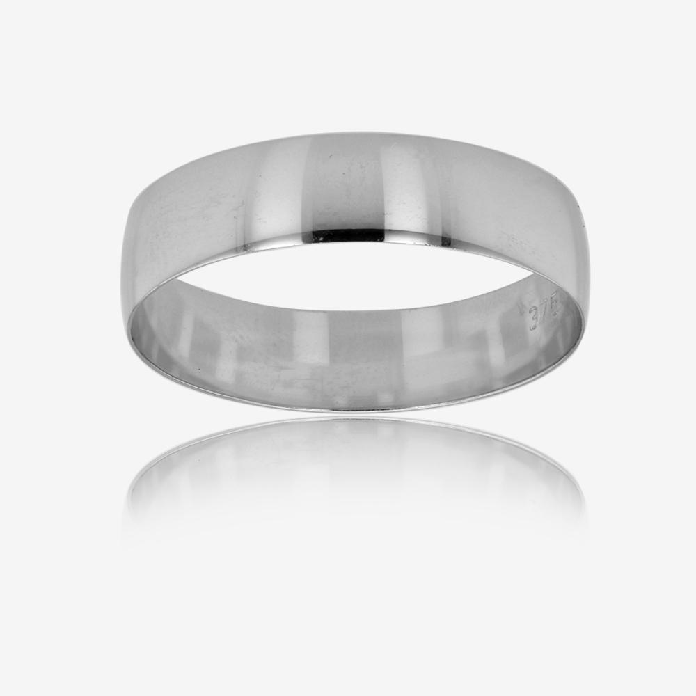 Warren James Mens Wedding Rings: 9ct White Gold Mens Wedding Band
