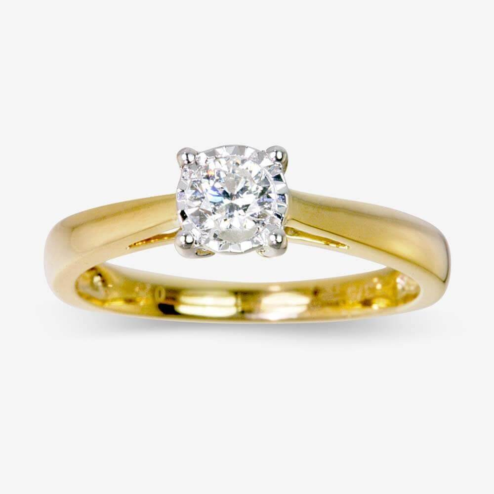 Brilliant Cut Certificated Diamond Solitaire Ring .25ct