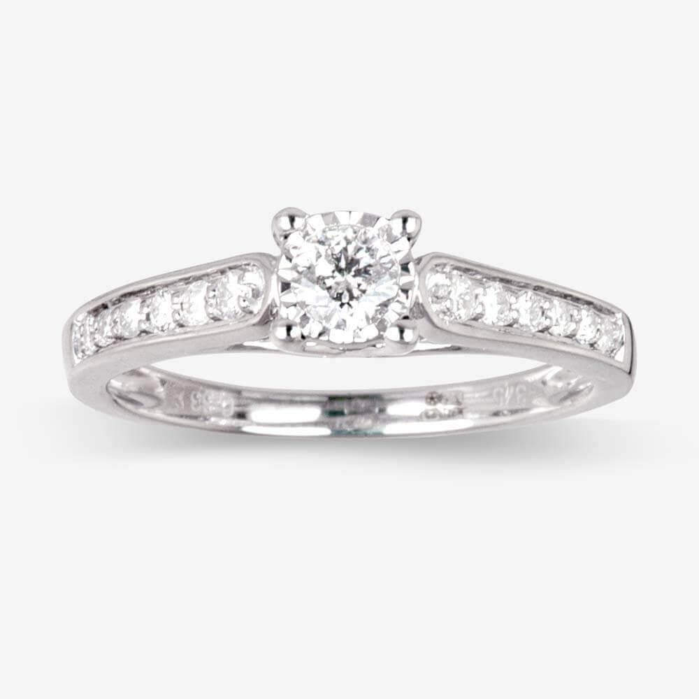 Warren James Mens Wedding Rings: Pure Brilliance Certificated Diamond Solitaire Ring .33ct