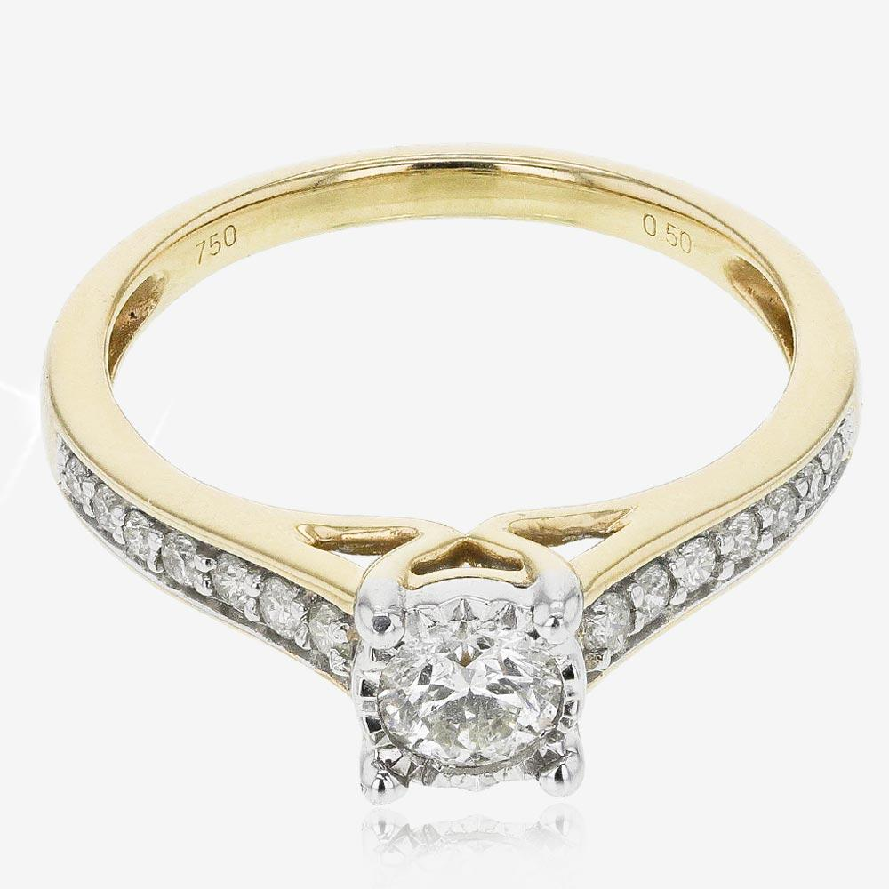 Pure Brilliance Certificated Diamond Solitaire Ring .50ct