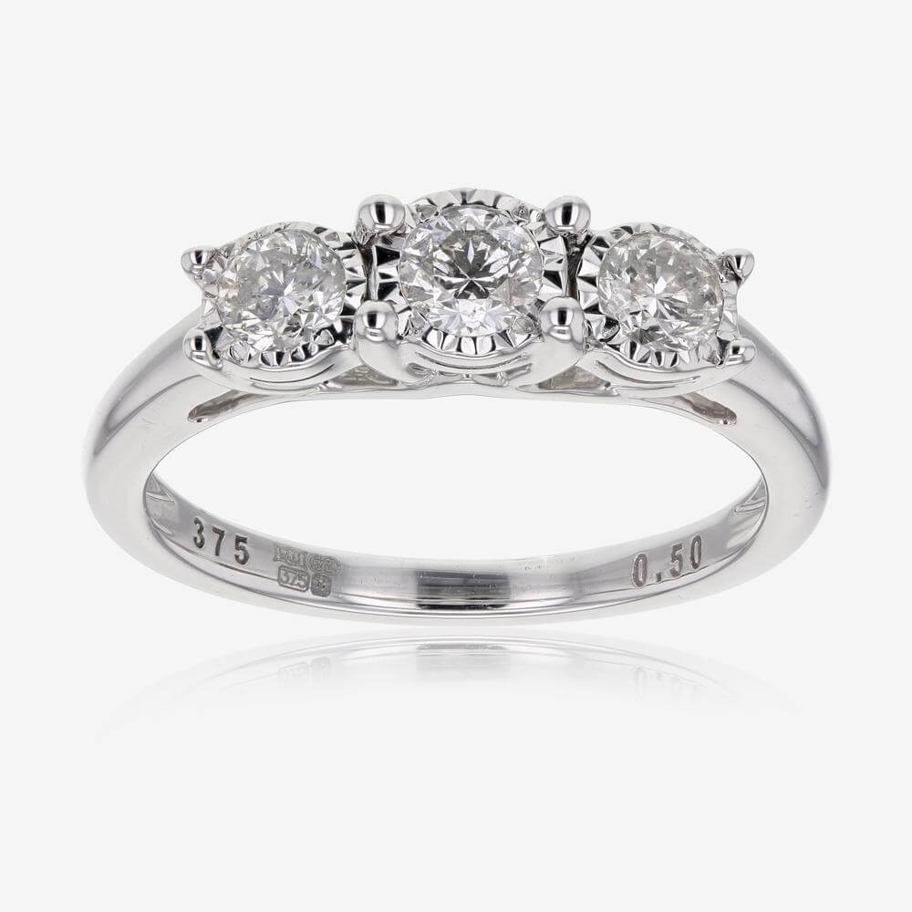 Pure Brilliance Certificated Diamond Trilogy Ring 50ct