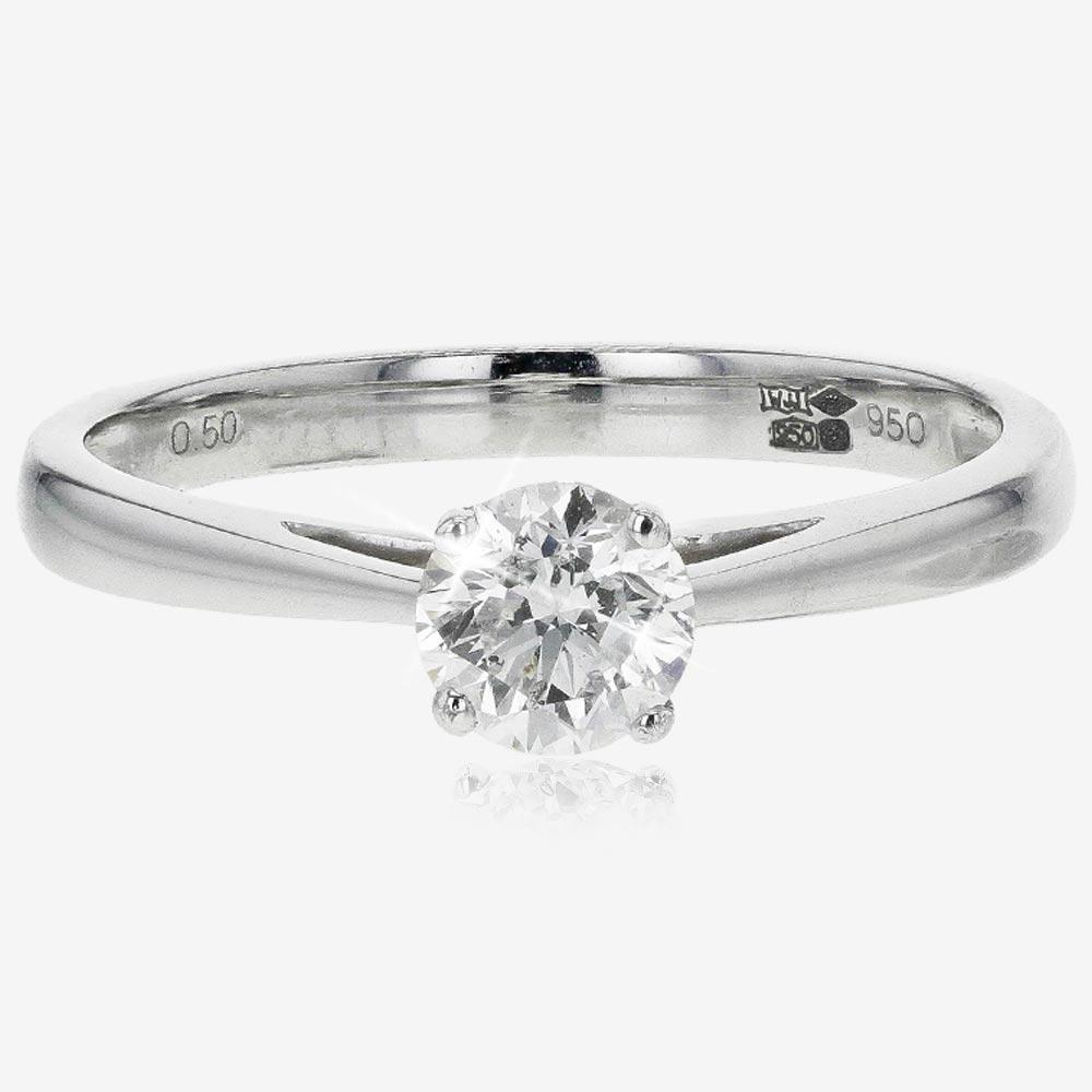 Pure Brilliance Platinum Certificated Diamond Solitaire .50cts