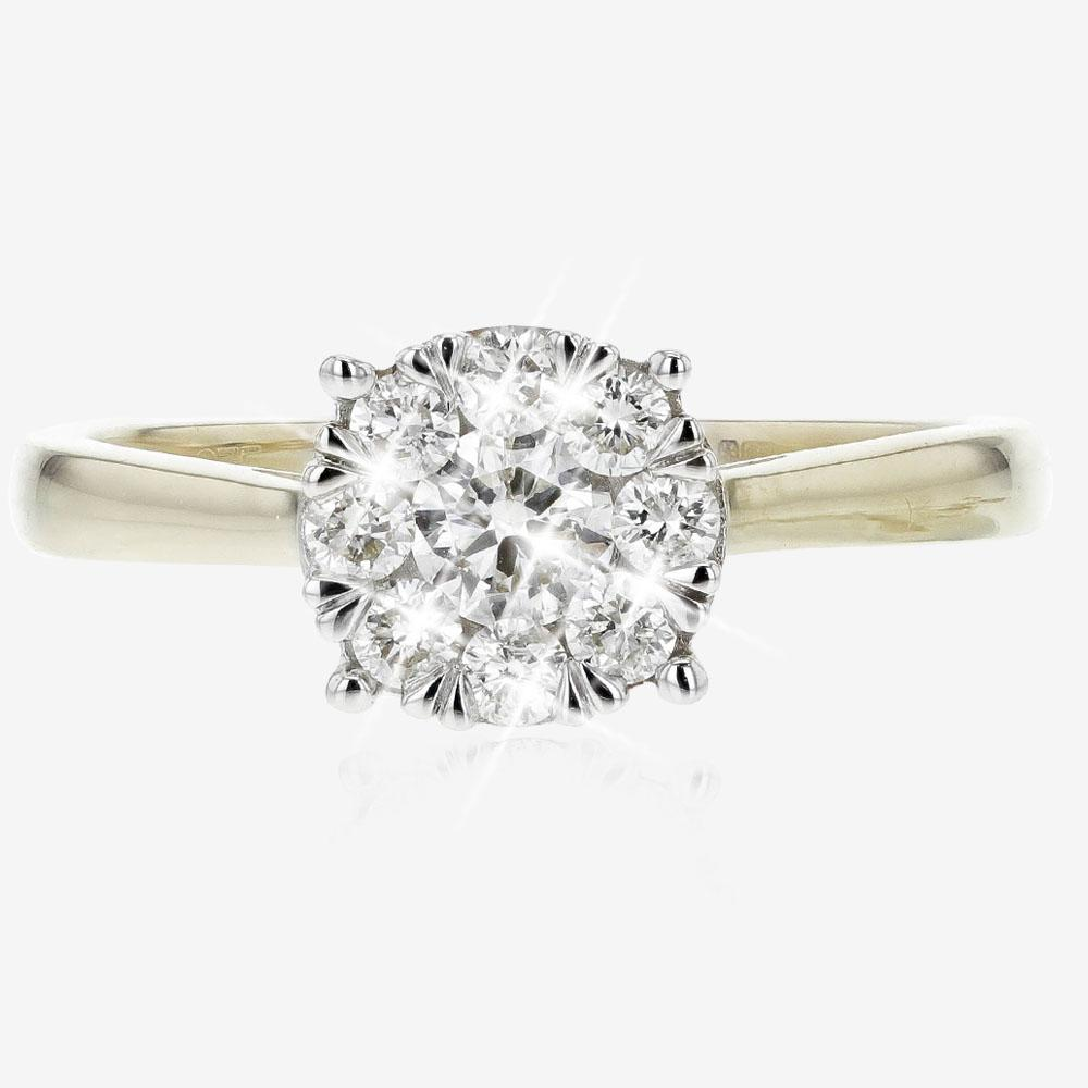 4147c10fd Pure Brilliance Certificated Diamond Ring .50ct