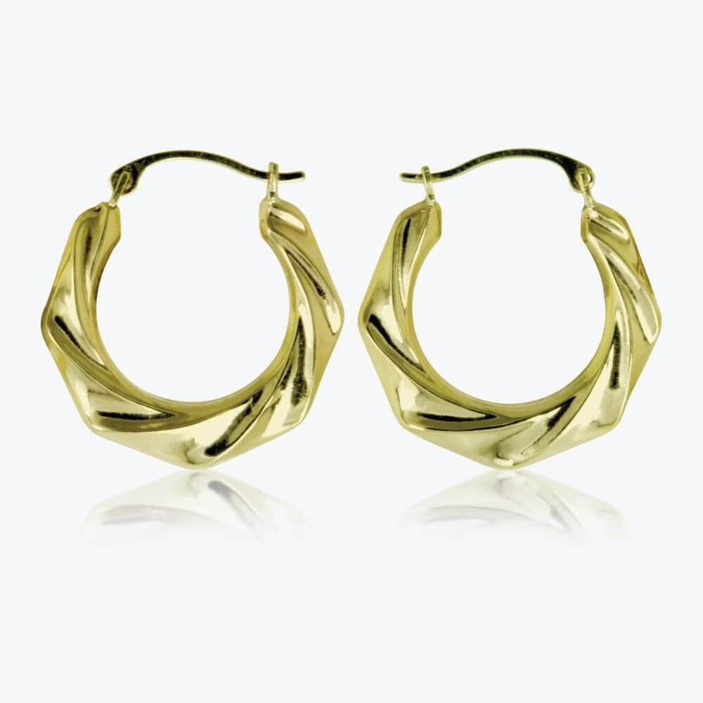 cheap gold earrings cheap 9ct gold creole earrings cool costume jewelry for you 1689