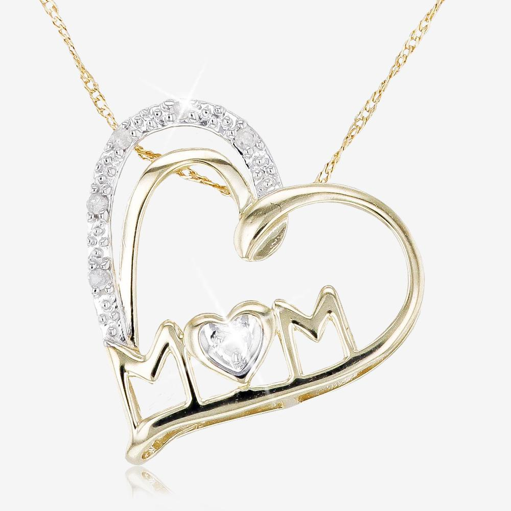 9ct Gold Diamond Mum Necklace