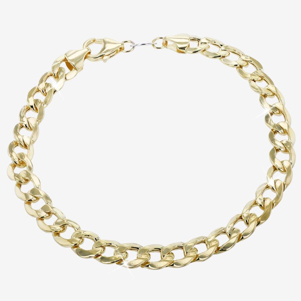 68692339b755e Mens 9ct Gold & Silver Bonded Curb Bracelet