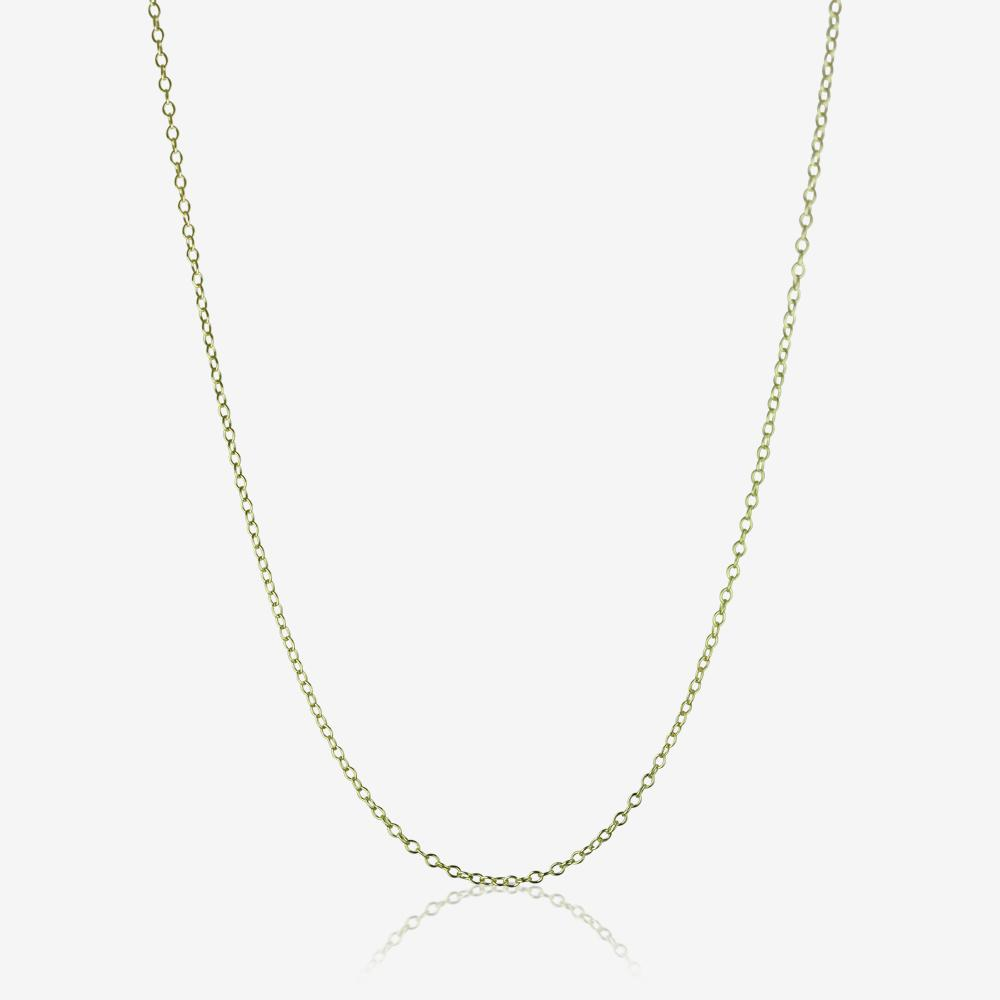 9ct Gold Amp Silver Bonded 18 Quot Trace Chain