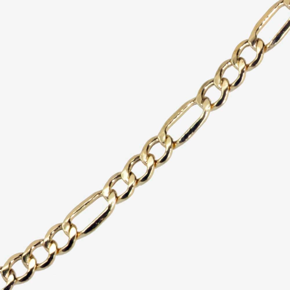 9ct Gold Amp Silver Bonded 18 Quot Figaro Chain