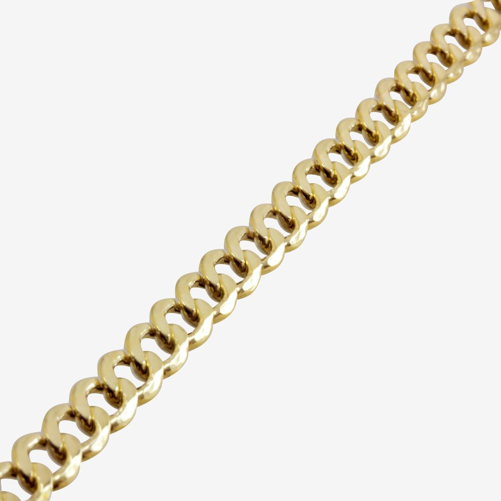 "9ct Gold & Silver Bonded 20"" Curb Chain"