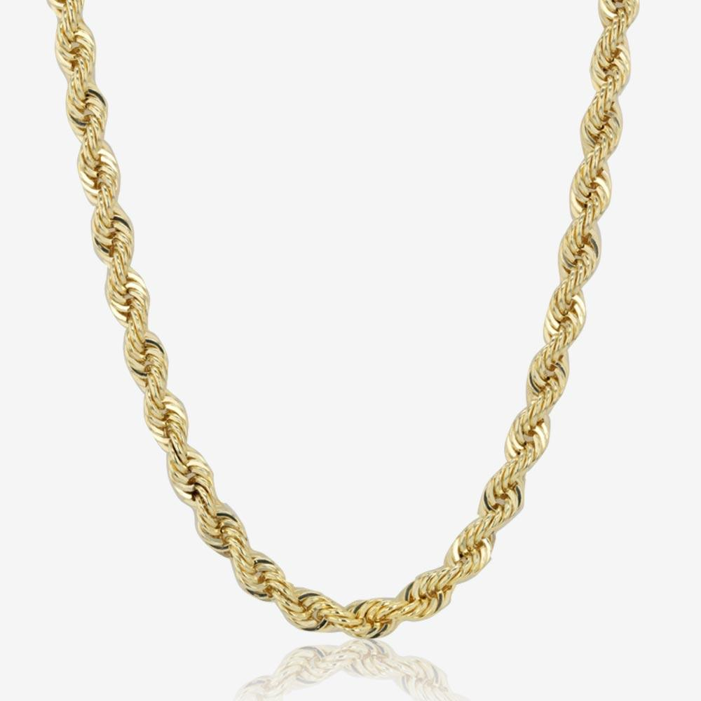 "9ct Gold & Silver Bonded 22"" Rope Chain"