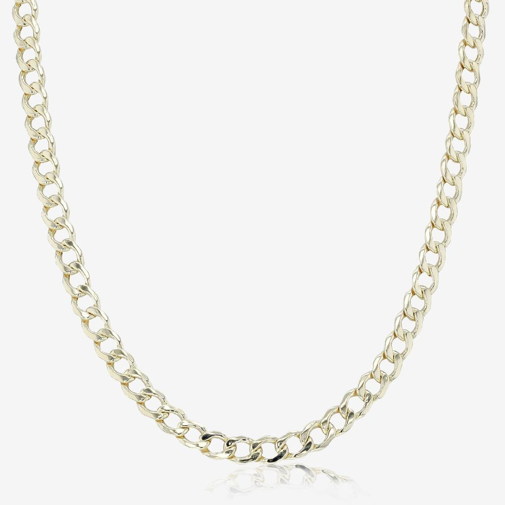 "Highly Polished 9ct Gold & Silver Bonded 20"" Curb Chain"