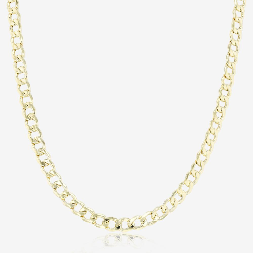 "9ct Gold & Silver Bonded 20"" Curb Link Chain"
