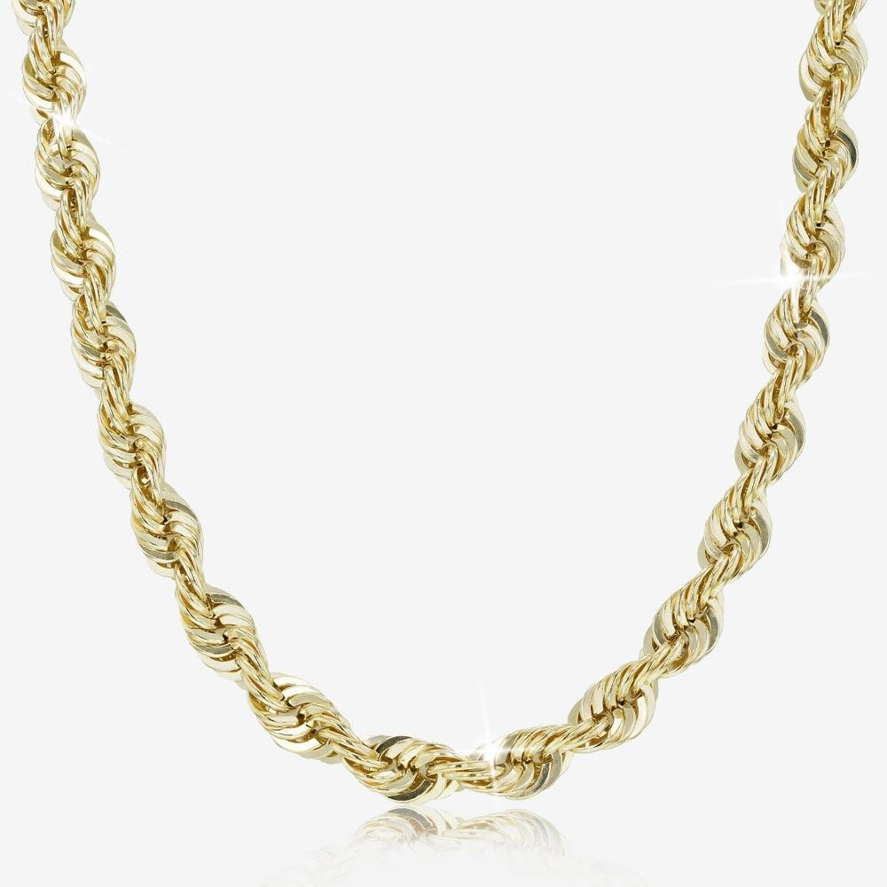 "9ct Gold & Silver Bonded 24"" Heavy Rope Chain"