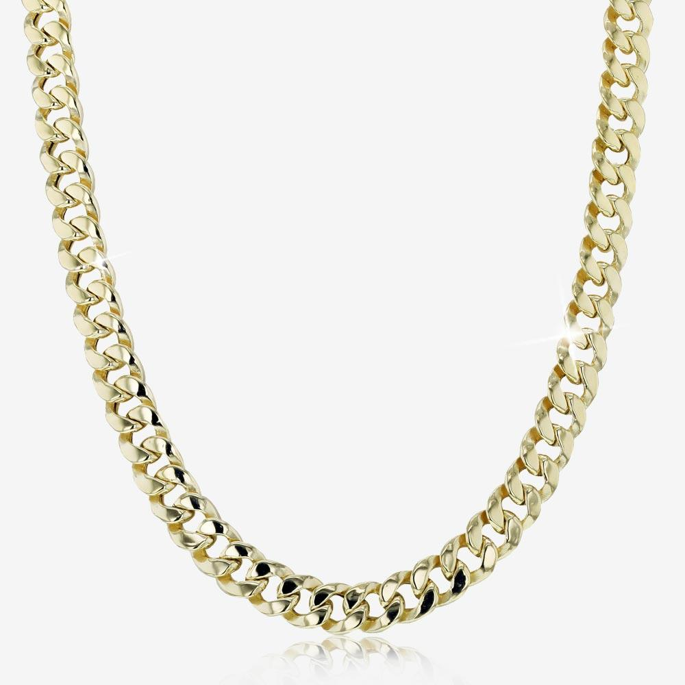 "9ct Gold And Silver Bonded 20"" Miami Curb Necklace"