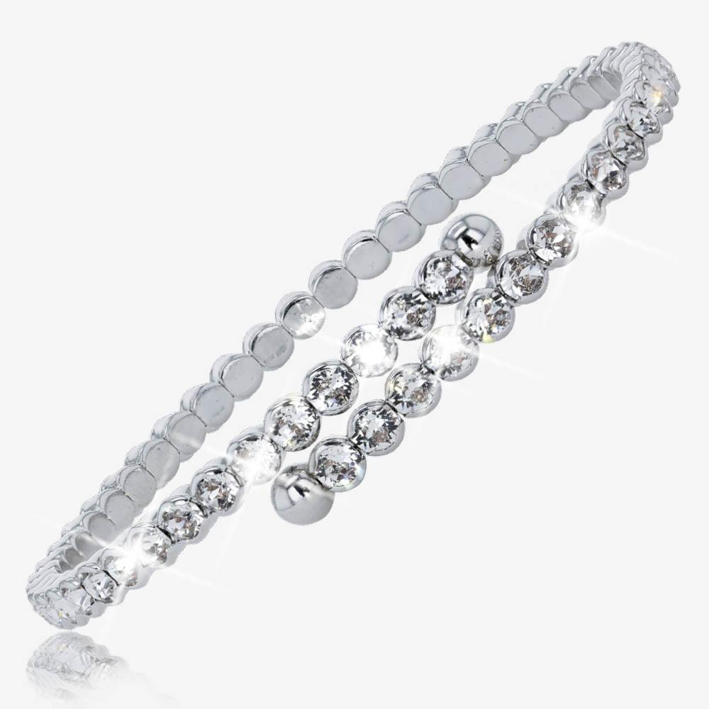 Swarovski® Crystals Ladies Flexi Bangle