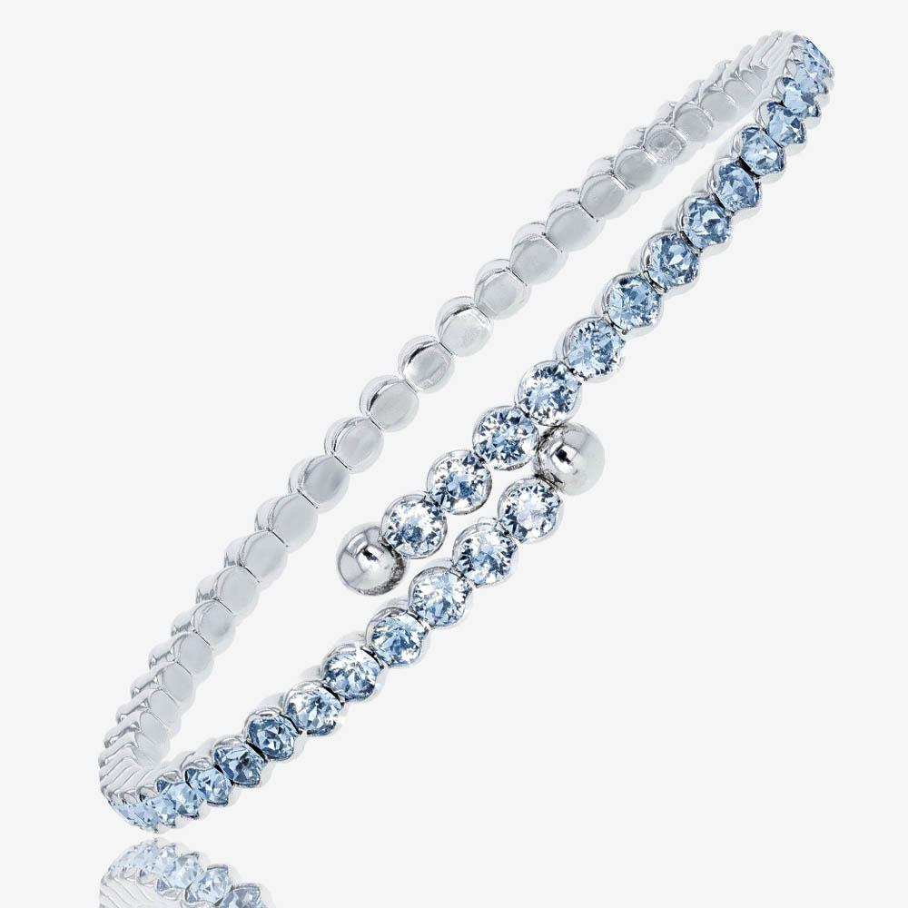 Swarovski® Crystals Ladies Aqua Flexi Bangle