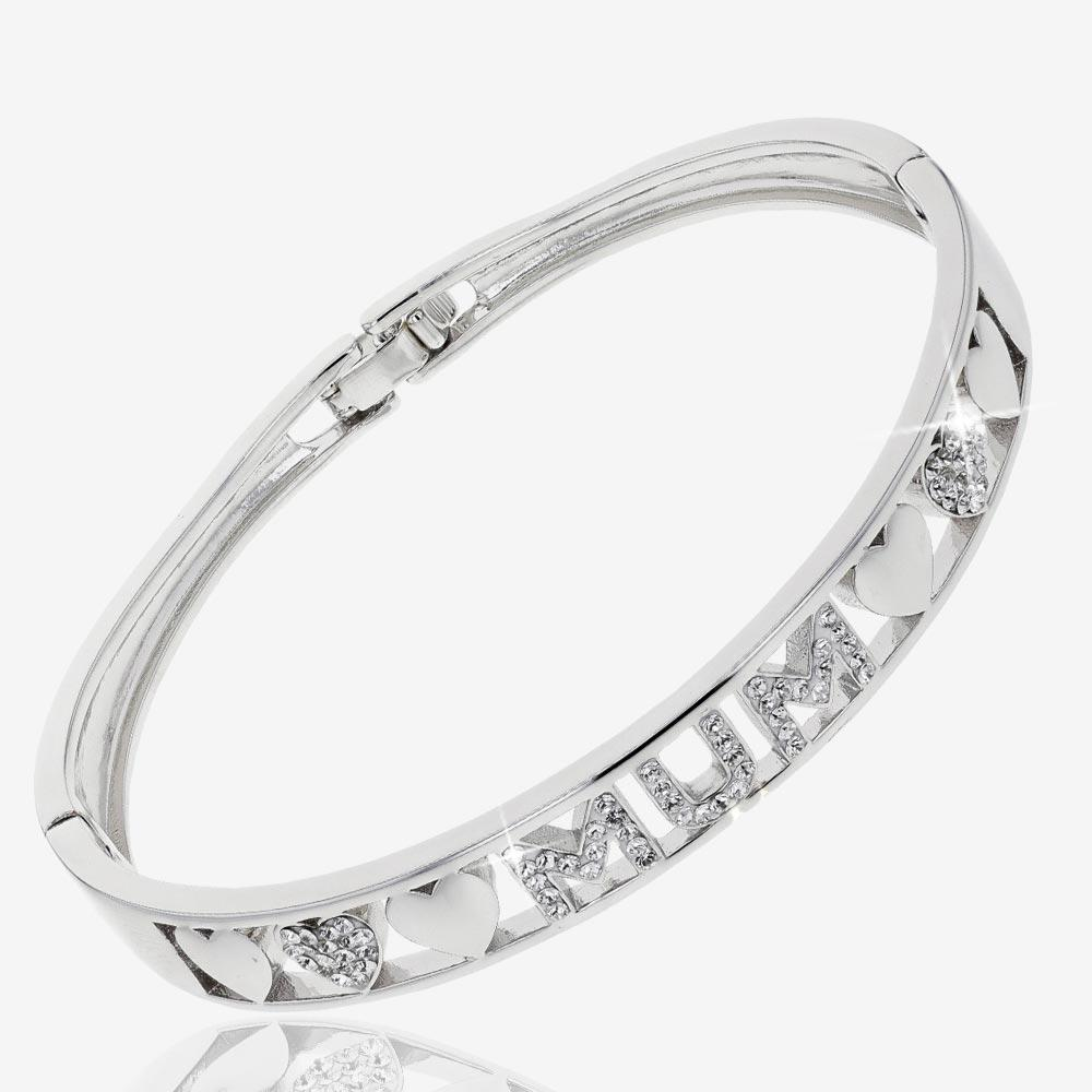 Swarovski® Crystals Mum Bangle
