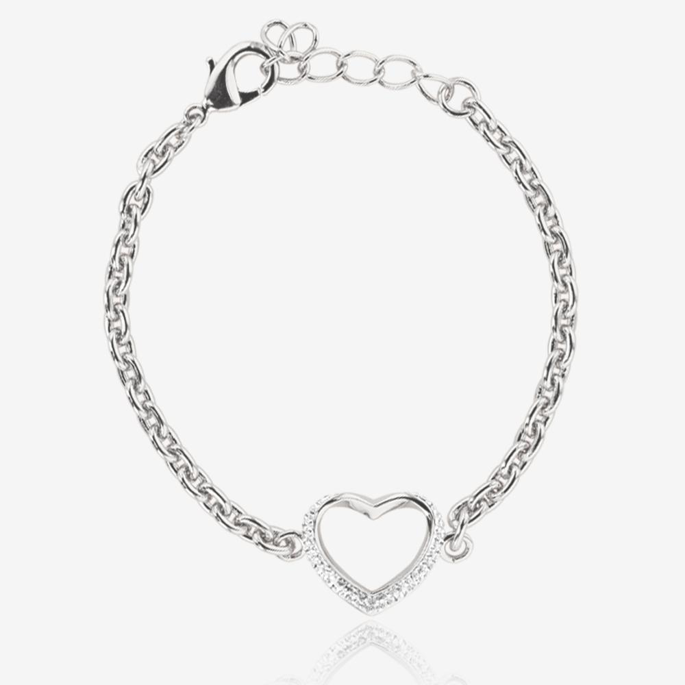 Bracelet With Hearts: Petra Heart Bracelet Made With Swarovski® Crystals