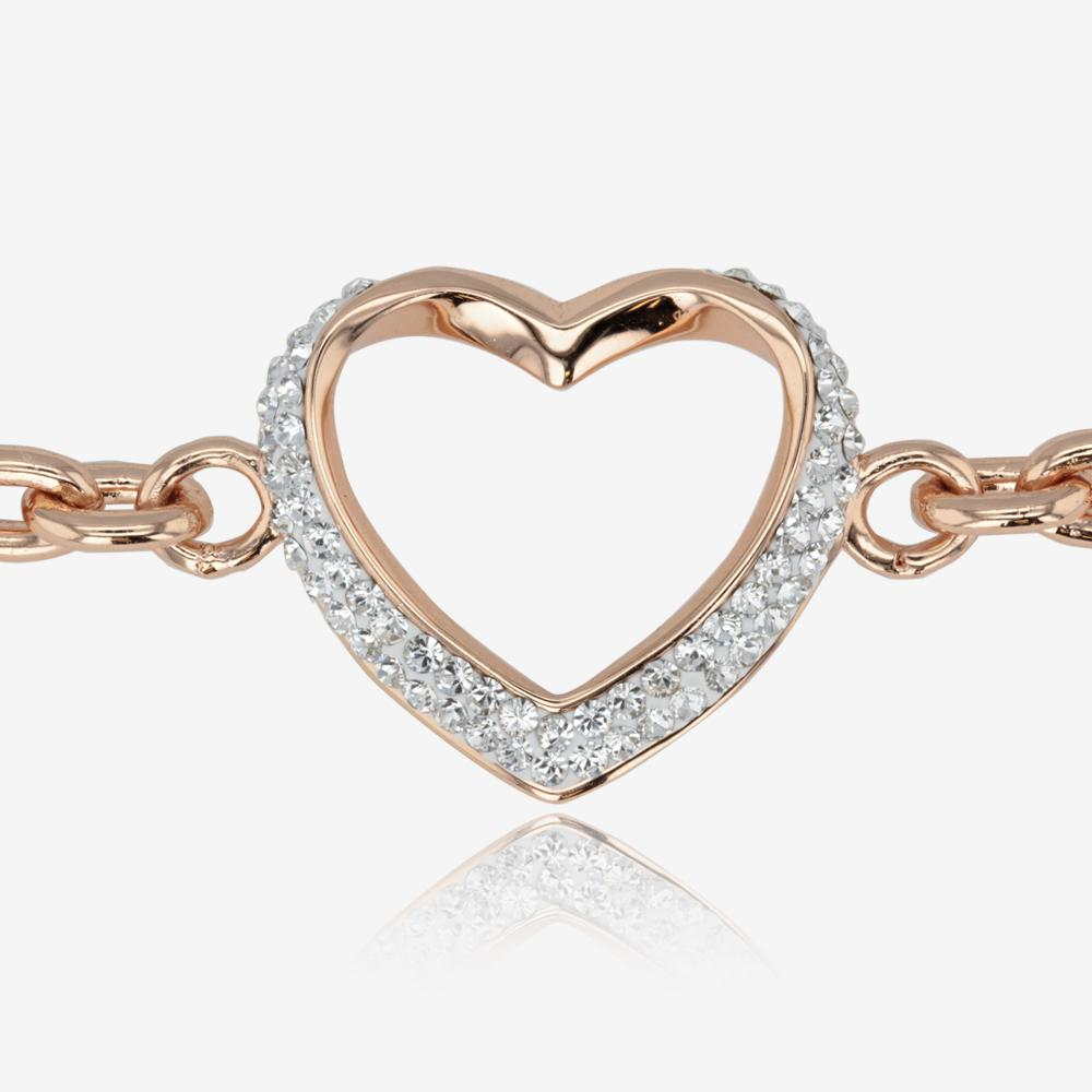 Petra Rose Heart Bracelet Made With Swarovski Crystals