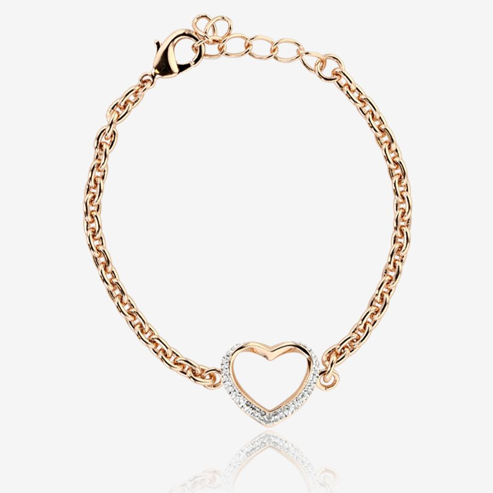 petra heart bracelet made with swarovski crystals. Black Bedroom Furniture Sets. Home Design Ideas
