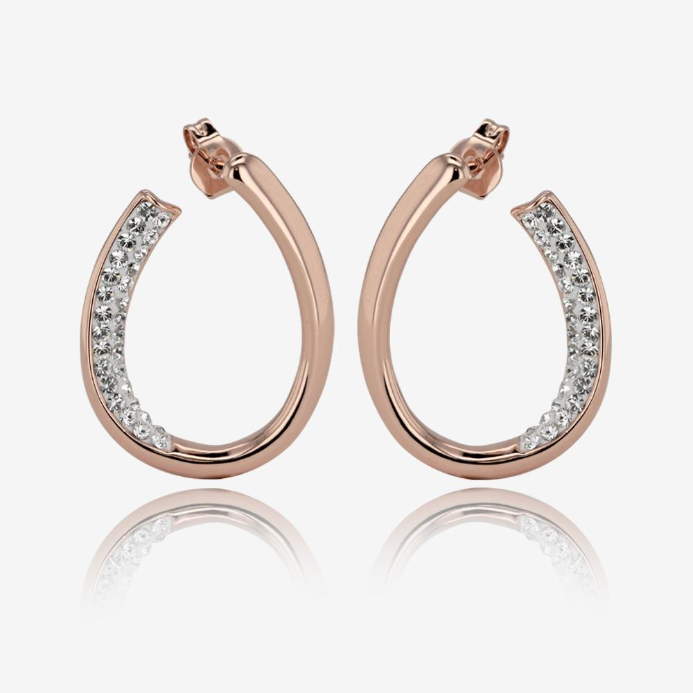 Rose Gold Finish Lucille Collection Made With Swarovski<sup>®</sup> Crystals