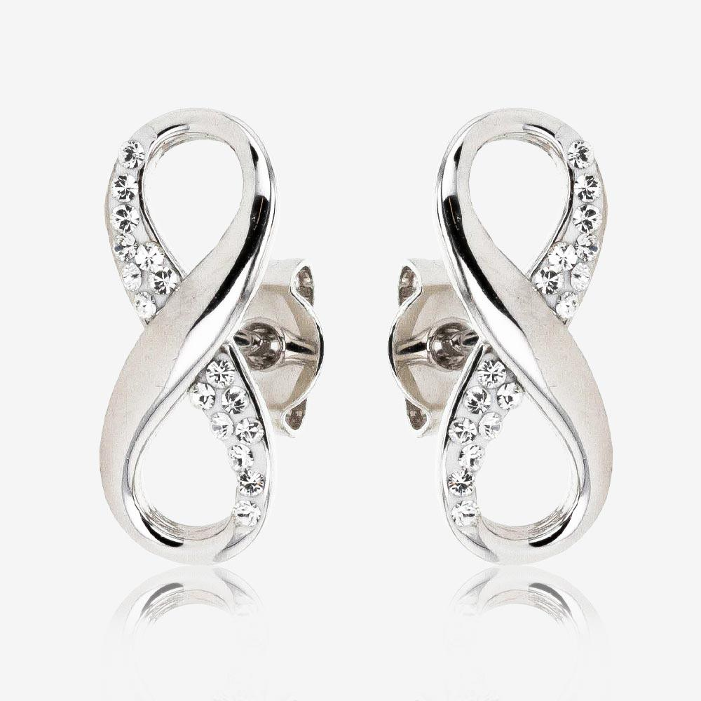 Infinity Earrings Made With Swarovski<sup>®</sup> Crystals