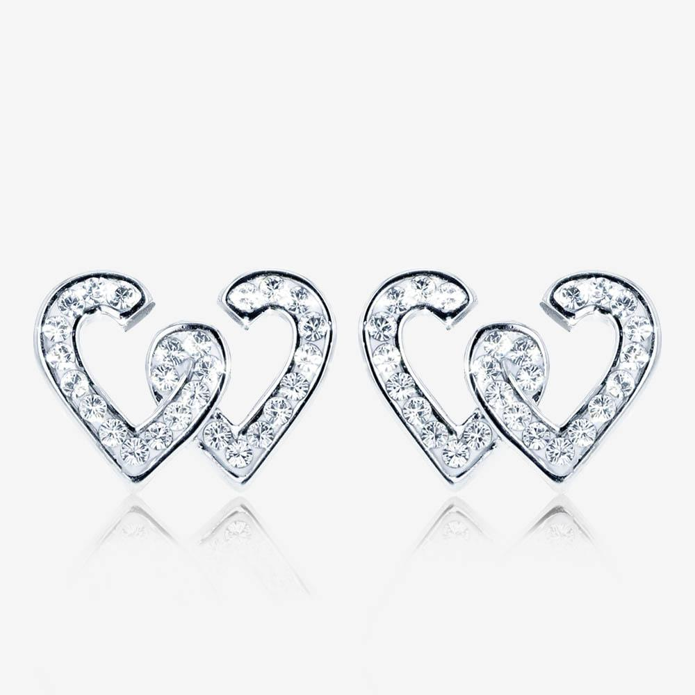 Entwined Heart Earrings Made With Swarovski<sup>®</sup> Crystals