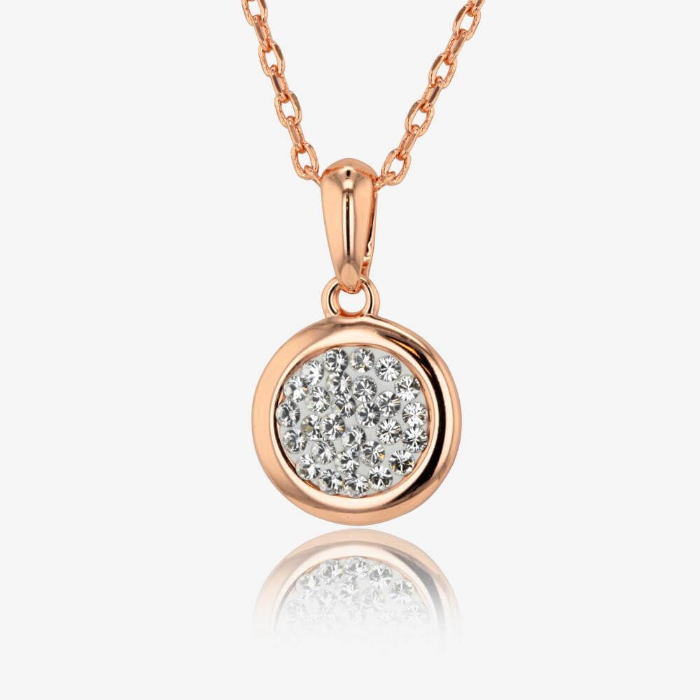 Stephanie Disc Necklace Made With Swarovskisupsup Crystals
