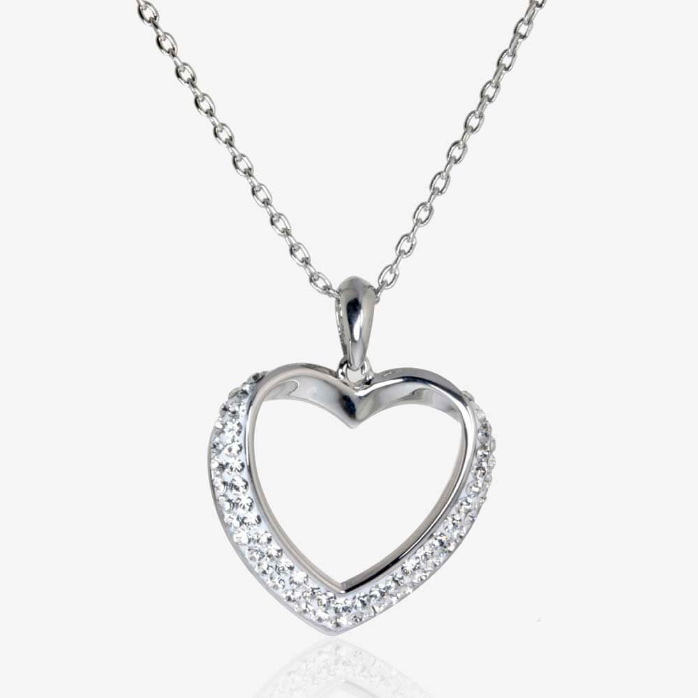 The petra heart necklace made with swarovski crystals the petra heart necklace made with swarovskisupsup crystals mozeypictures Images