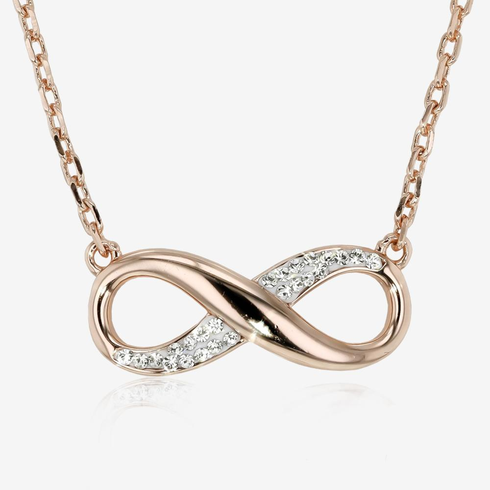 Rose Infinity Necklace Made With Swarovski® Crystals