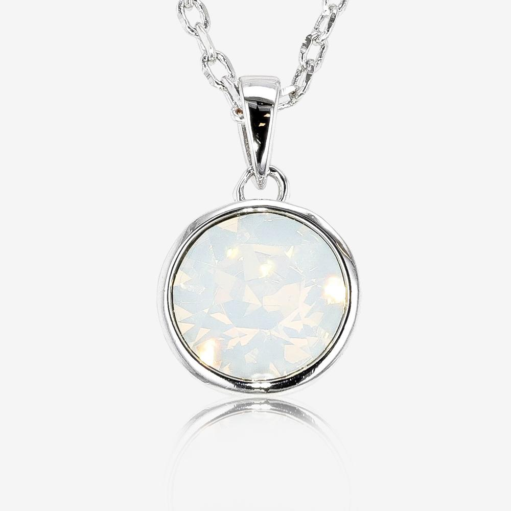 plated solid design white open opal silver with slide gold pslow claw products pendant a modern star black set circle necklace