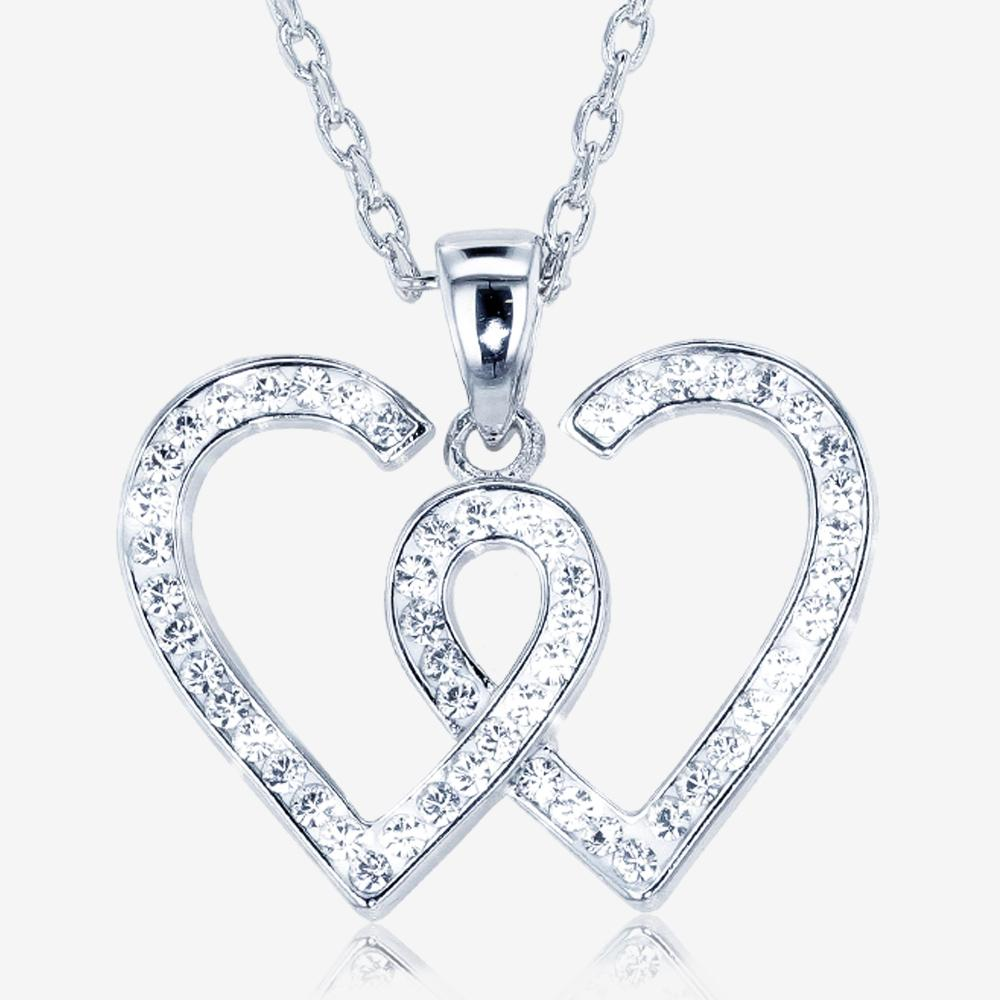 Swarovski® Crystals Entwined Heart Necklace