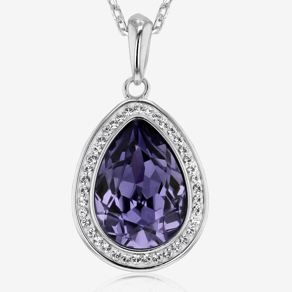 Swarovski® Crystals Tanzanite Coloured Necklace