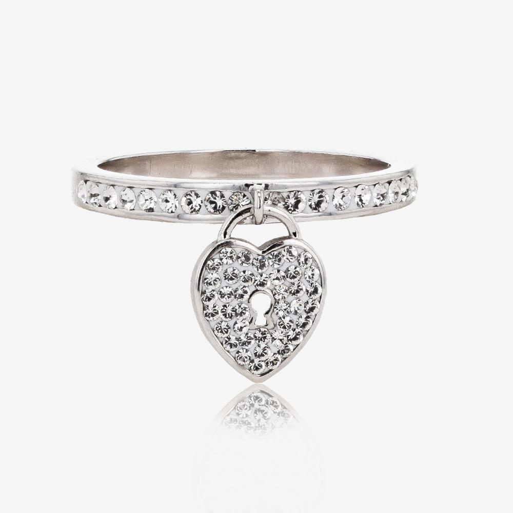 Warren James Mens Wedding Rings: Padlock Band Ring Made With Swarovski® Crystals