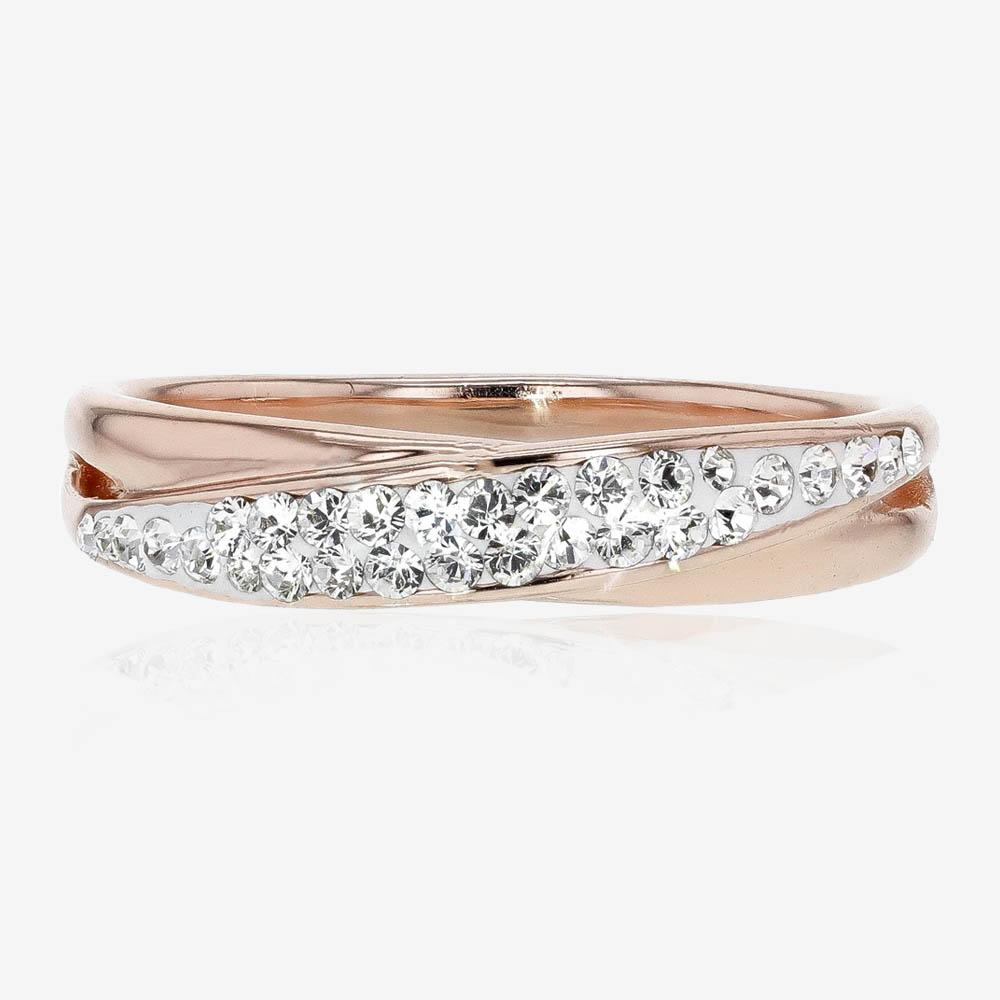 Rose Gold Finish Lucille Designer Ring Made With Swarovski® Crystals