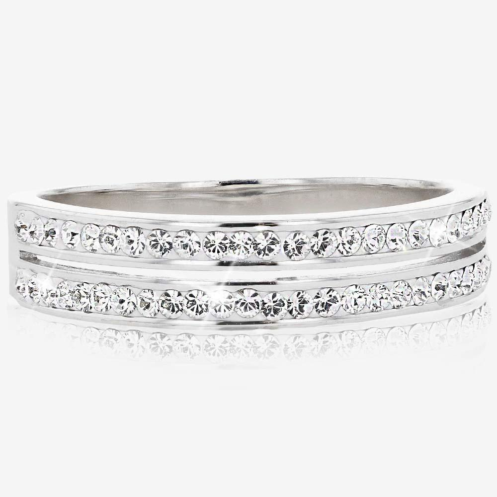 Fortuna Band Ring Made With Swarovski<sup>&reg;</sup> Crystals